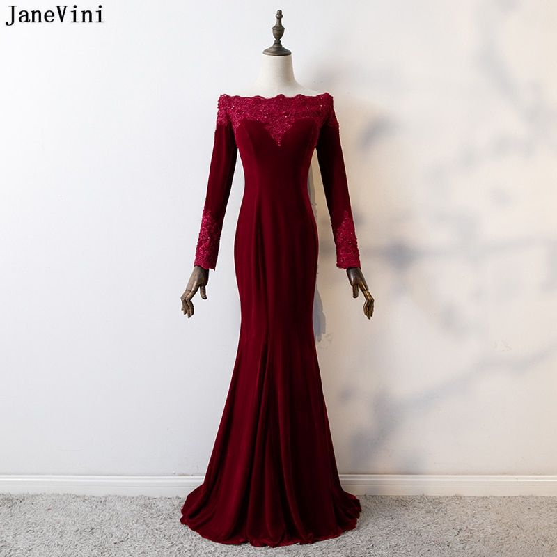 LEJY Velvet Evening Gown Off The Wedding Dress With Detachable Train