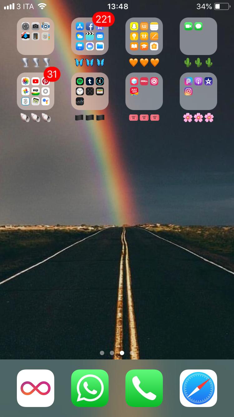 My home screen Homescreen iphone, Iphone layout, Iphone