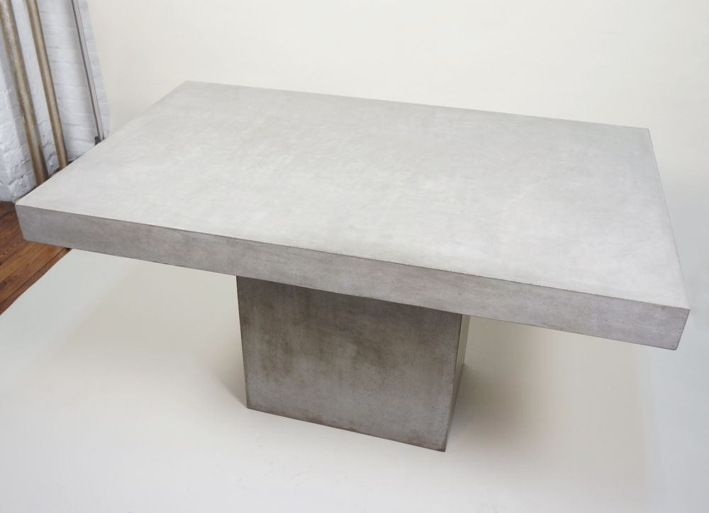 CB Fuze Grey Concrete Cement Table Sold Out Low Starting Bid - Cb2 cement table