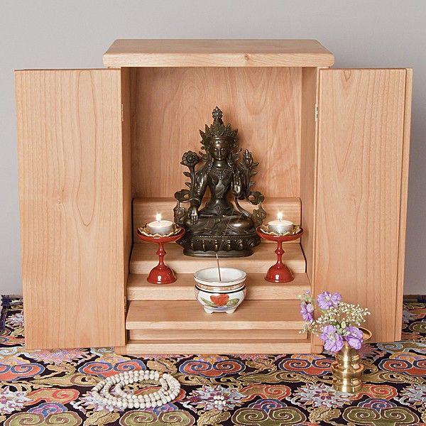 Butsudan Altar Cabinet Hand Crafted In Alder Meditation Supplies