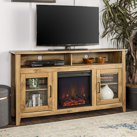 Walker Edison Tall Fireplace Tv Stand For Tv S Up To 64 Inch