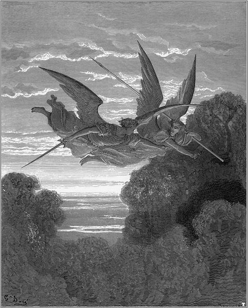 darksilenceinsuburbia:  Illustration for John Milton's Paradise Lost, 1866by Gustave Doré