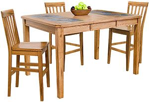 Shop For The Sunny Designs Sedona Counter Height Extension Table W Slate Top At Fashion Furniture