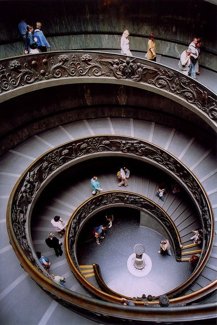 Stair-exit from the Vatican - I walked these stairs. It was amazing.
