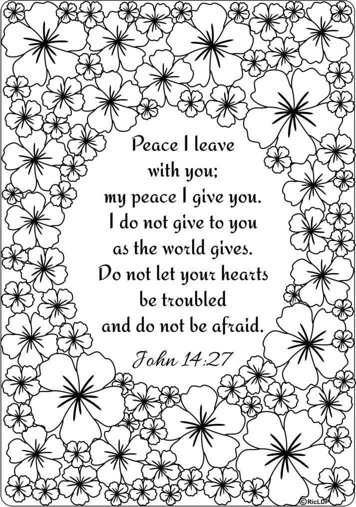 Peace I Leave With You Give To Coloringpages Bible Colouring