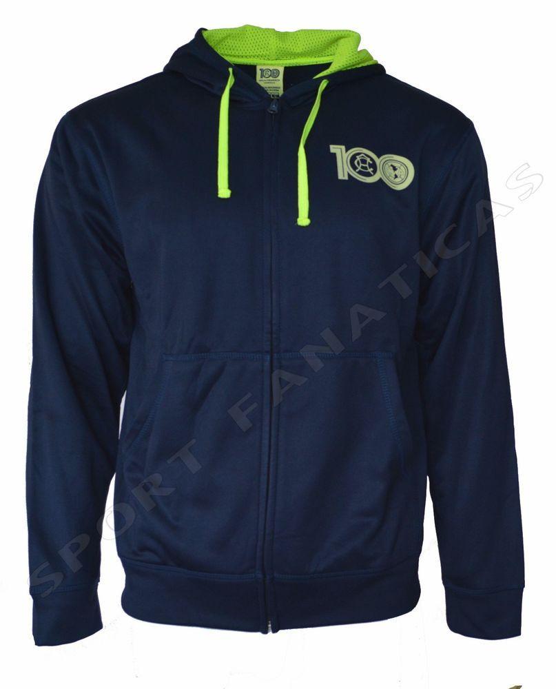 Club America Hoodie Centenario Zip Up Fleece Sweatshirt Jacket hooded Men's