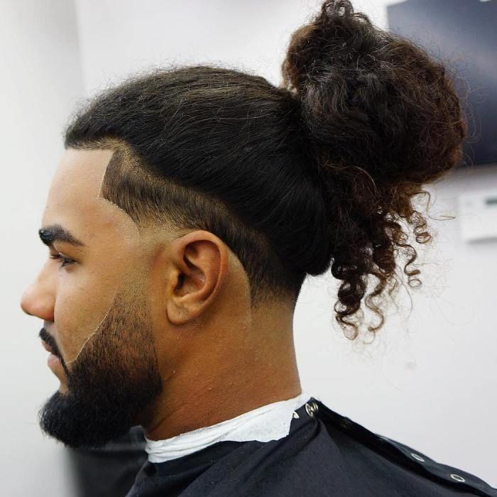 Man Bun For Natural Hair Man Bun Haircut Long Hair Styles Men Long Curly Hair Men