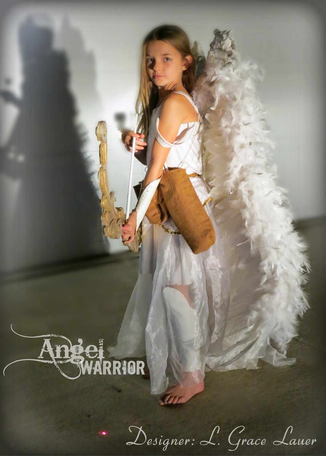 uniquely grace angel warrior costume with articulated wings halloweenchristmas video included - Halloween Costumes Angel Wings