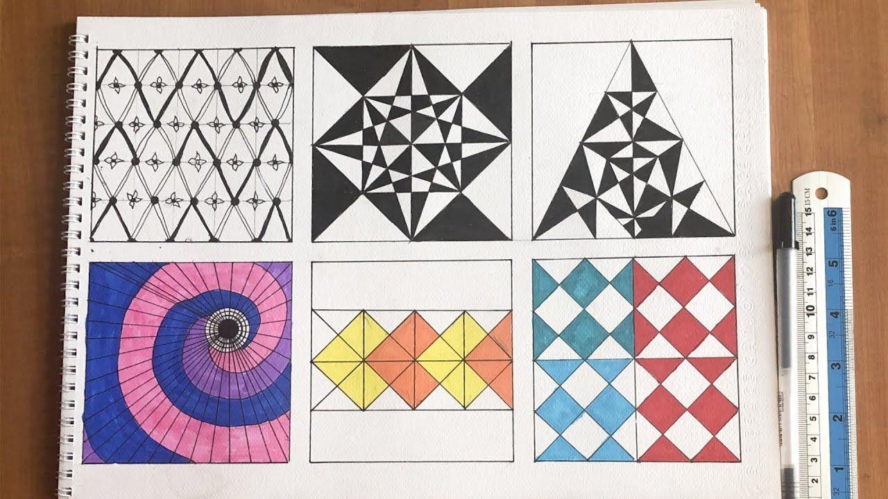 رسم وحدة زخرفية لا نهائية الأفاريز الزخرفية التشعب الزخرفي من نقطة Zentangle Art Art Kids Rugs