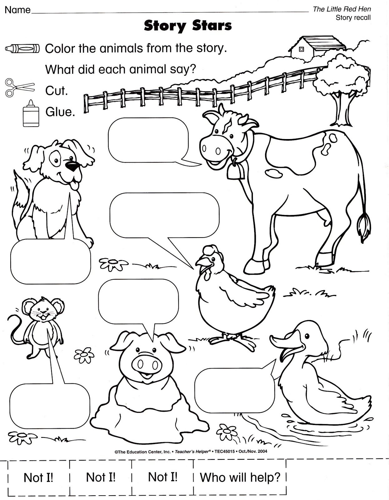 Free Worksheet Little Red Hen Worksheets squish preschool ideas cows sheep horses oh my farm sheep