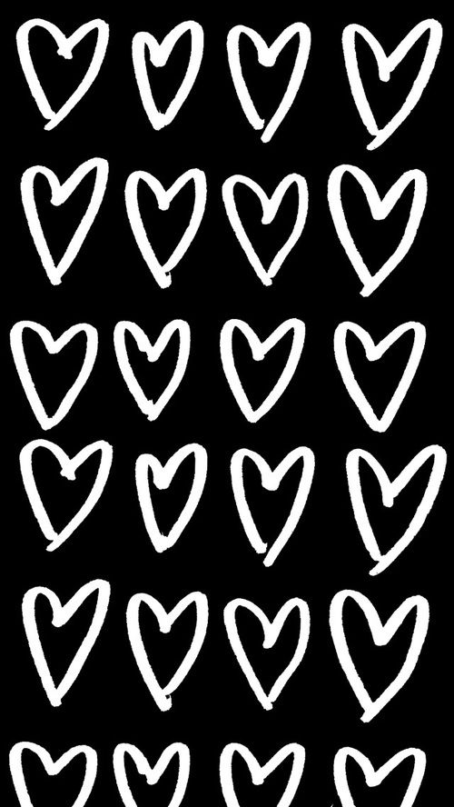 Black And White Hearts And Heart Image Heart Iphone Wallpaper Heart Wallpaper Wallpaper