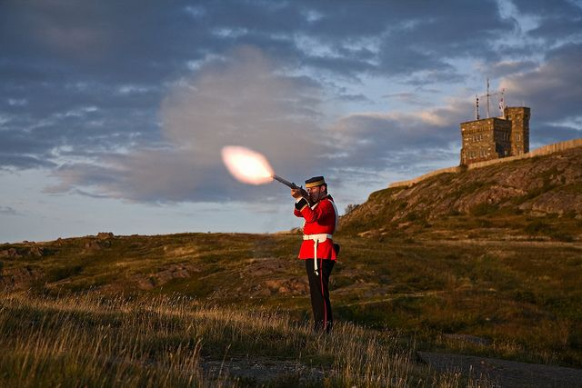 Tattoo re-enactment on Signal Hill by Newfoundland and Labrador Tourism, via Flickr