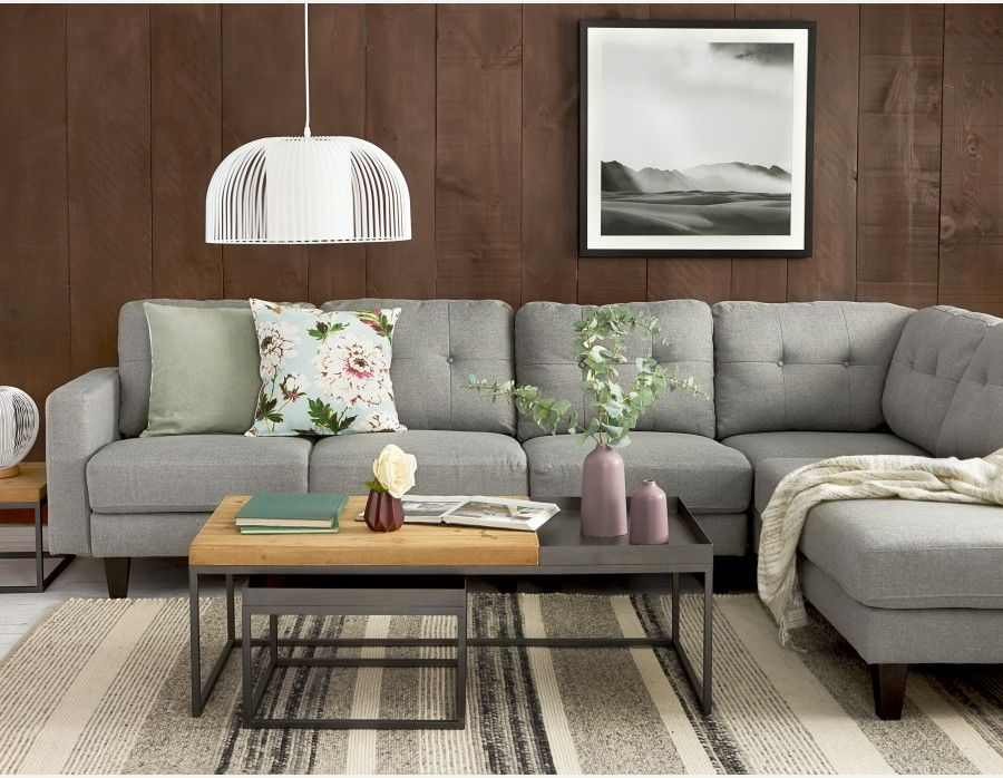 Warren Right Facing Sectional Sofa With Detachable Unit Light