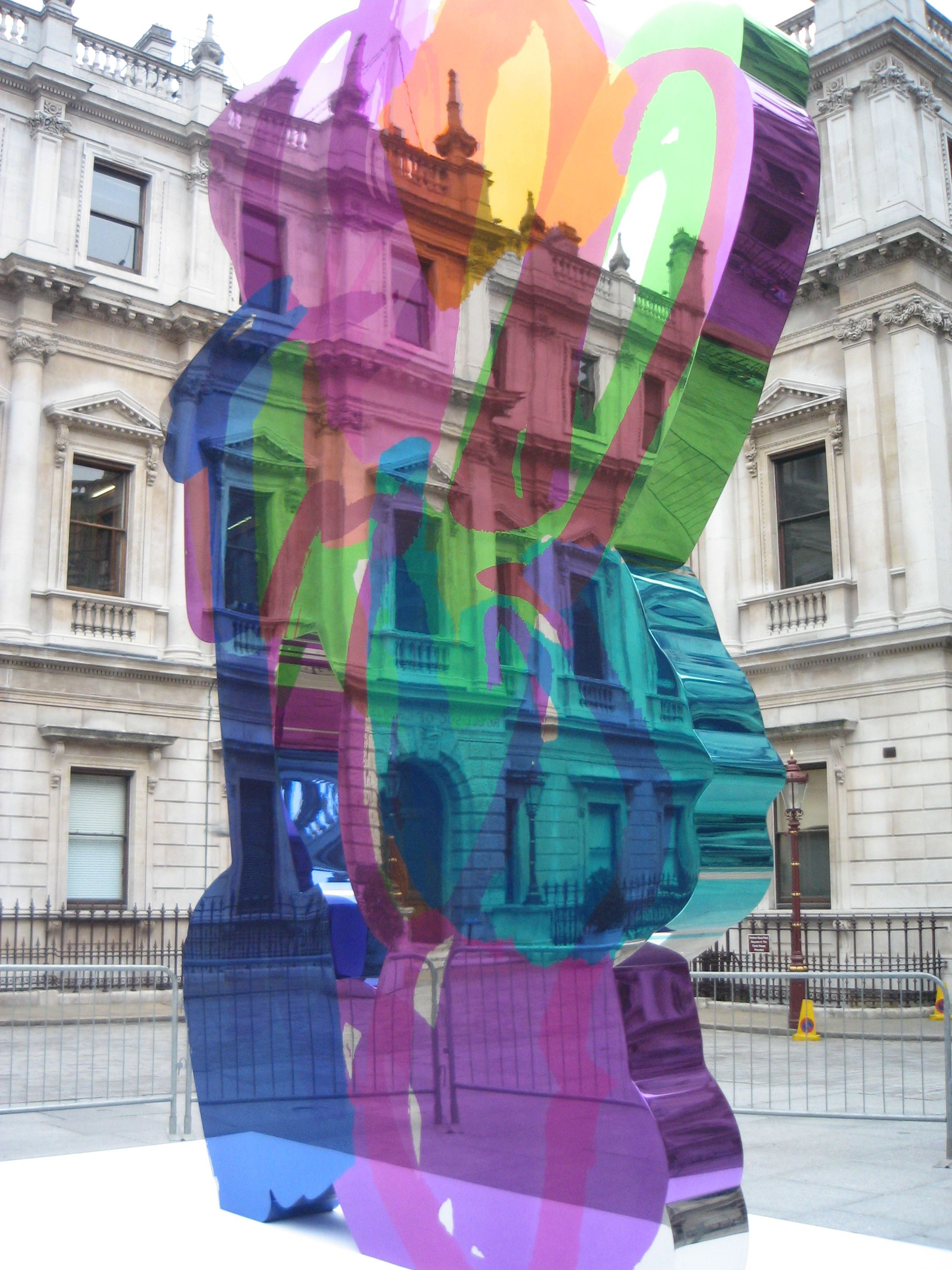 Jeff Koons Colouring Book in the Royal Academy of Arts courtyard ...