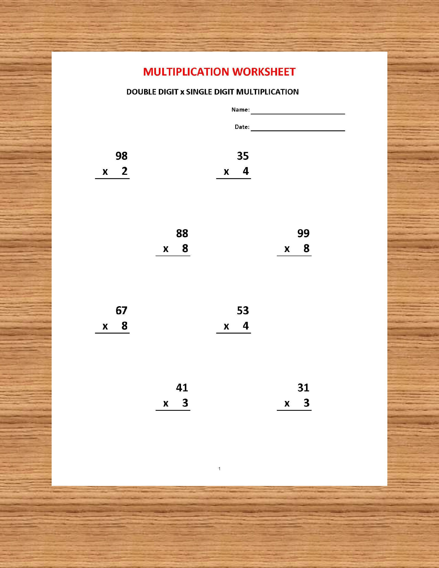 Addition 1 Minute Drill H With Answers 10 Math Sheets