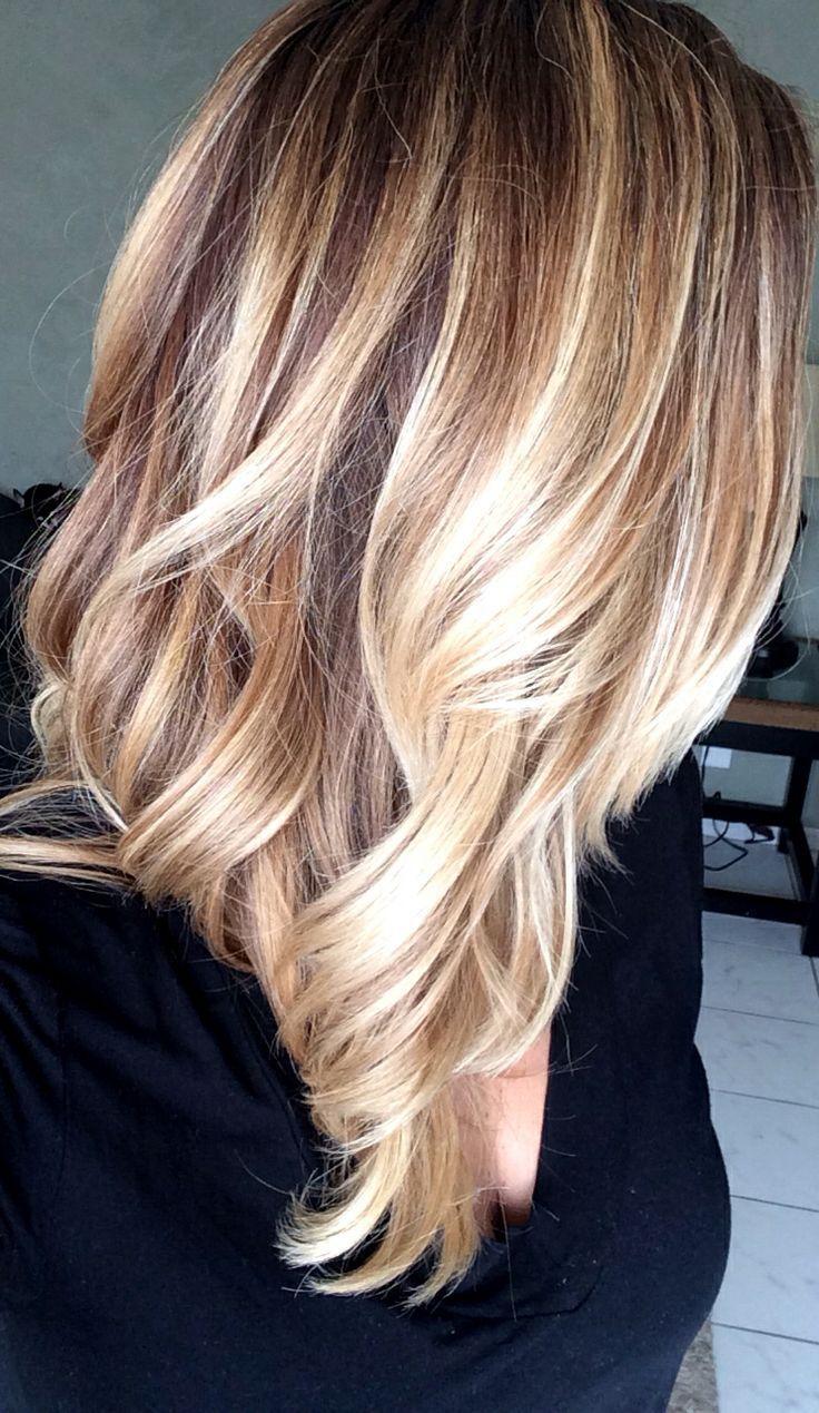Frisuren braun blond gestrahnt