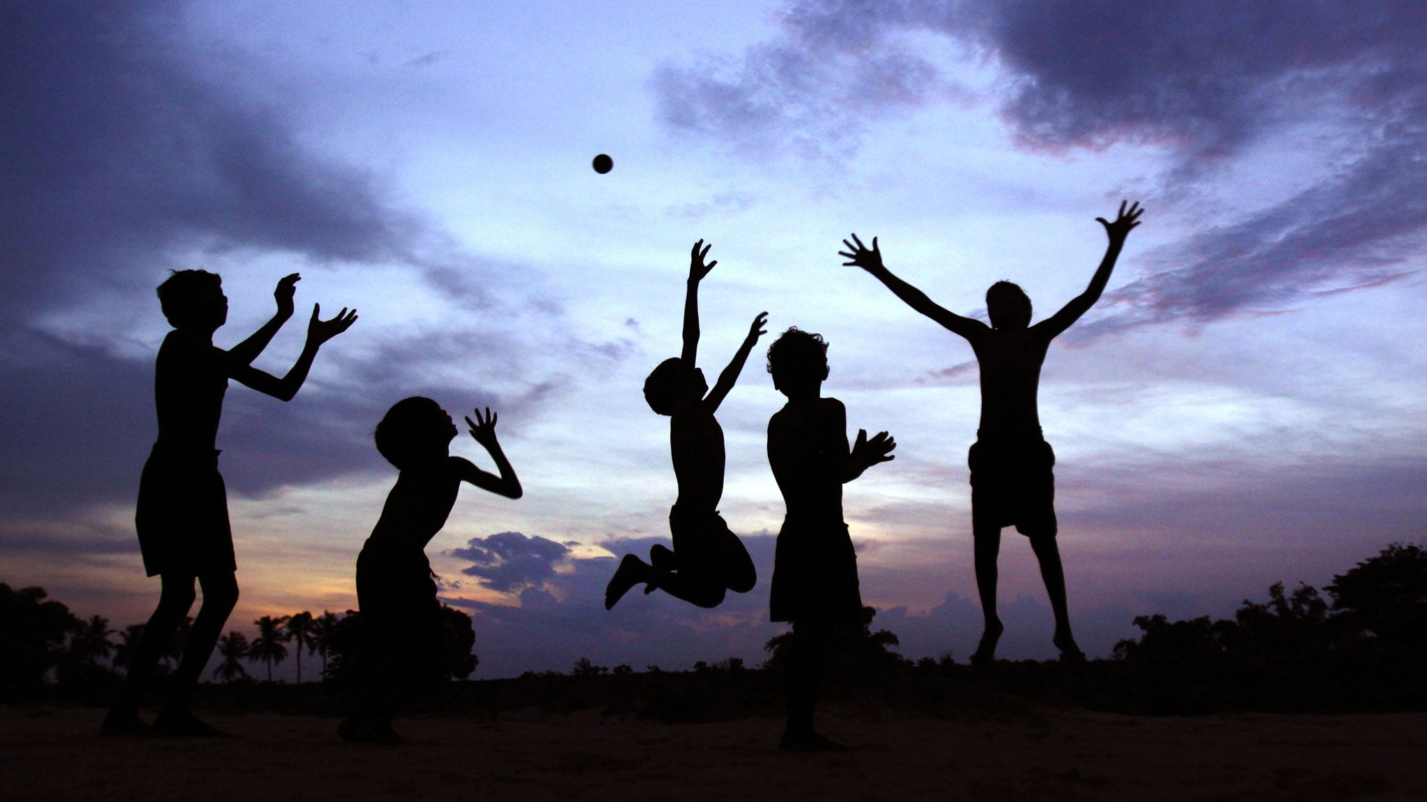 Children playing together a foster parent