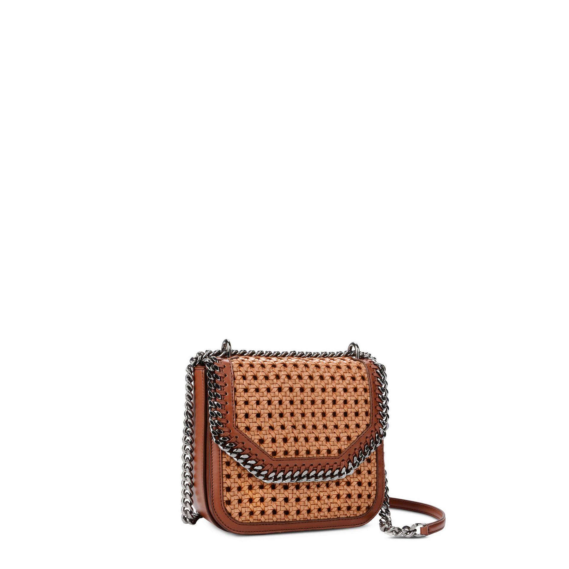 4c1722bba252 Tan Falabella Box wicker Medium Shoulder Bag - STELLA MCCARTNEY ...