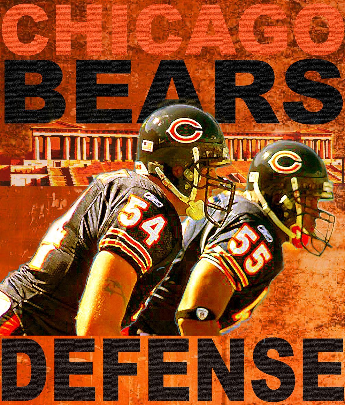 chicago bears poster art chicago