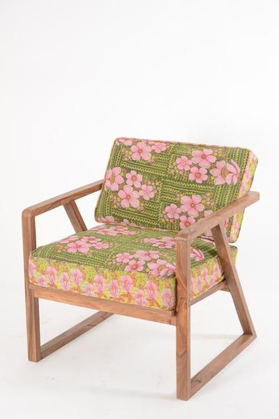 Retro 50's Chair with Kantha Fabric