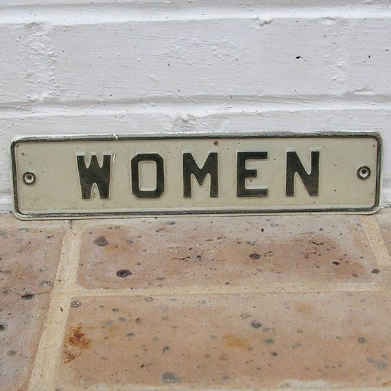 Vintage Restroom Sign Vintage Metal Restroom Sign By Timepassages, $20.00