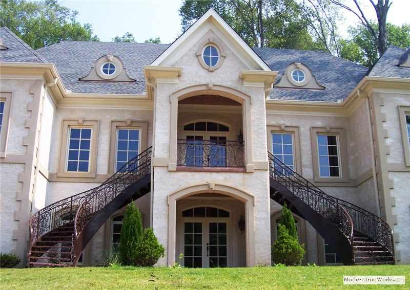 Best Home Exterior Love The Double Staircase House 400 x 300