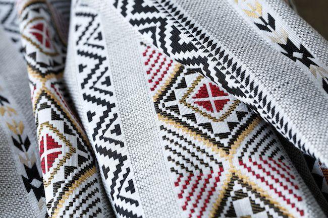 tissu jacquard navajo esprit ethnique
