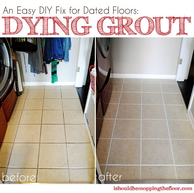 Dying Grout Tutorial Awesome Things Pinterest Grout