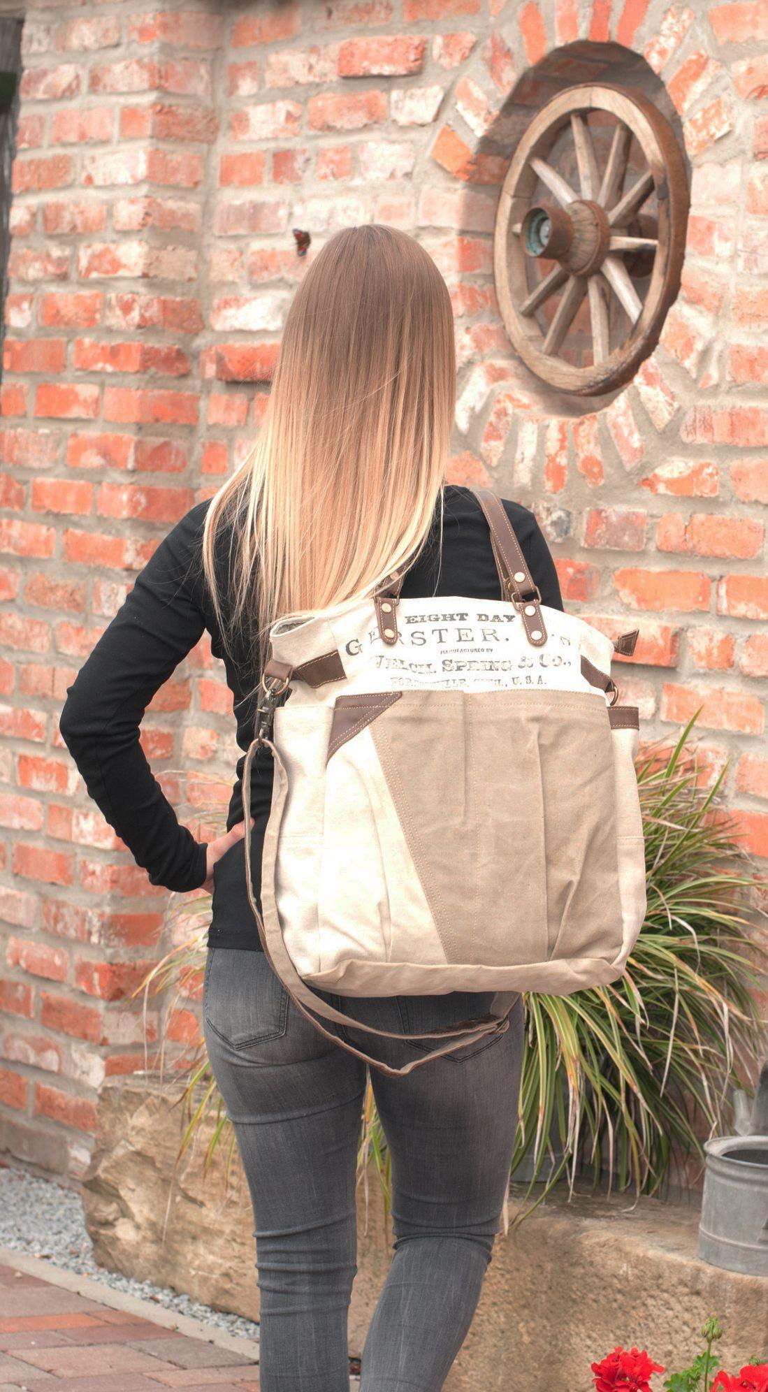 627b50a05fbe5 Damen Vintage Tasche Schultertasche Handtasche Canvastasche Canvas Leder  Shopper Vintagetasche Ledertasche Damentasche Retro