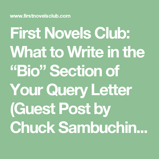 First Novels Club What To Write In The Bio Section Of Your