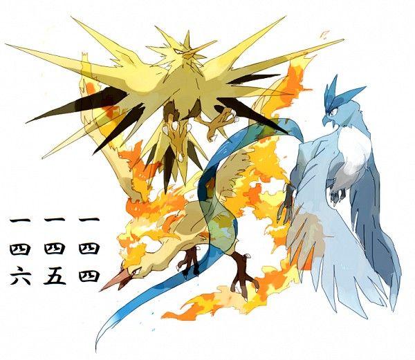 Tags Anime Fire Pokémon Moltres Zapdos Articuno No People
