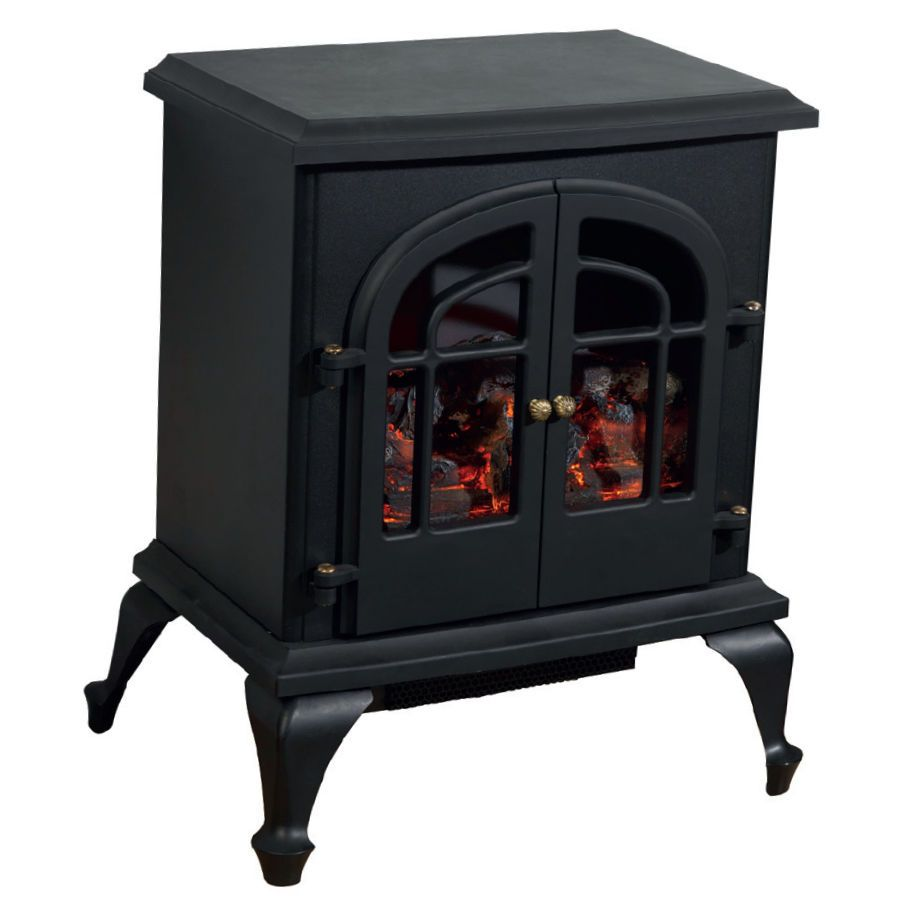 Electric Wood Stoves Warmlite Black Electric Wood