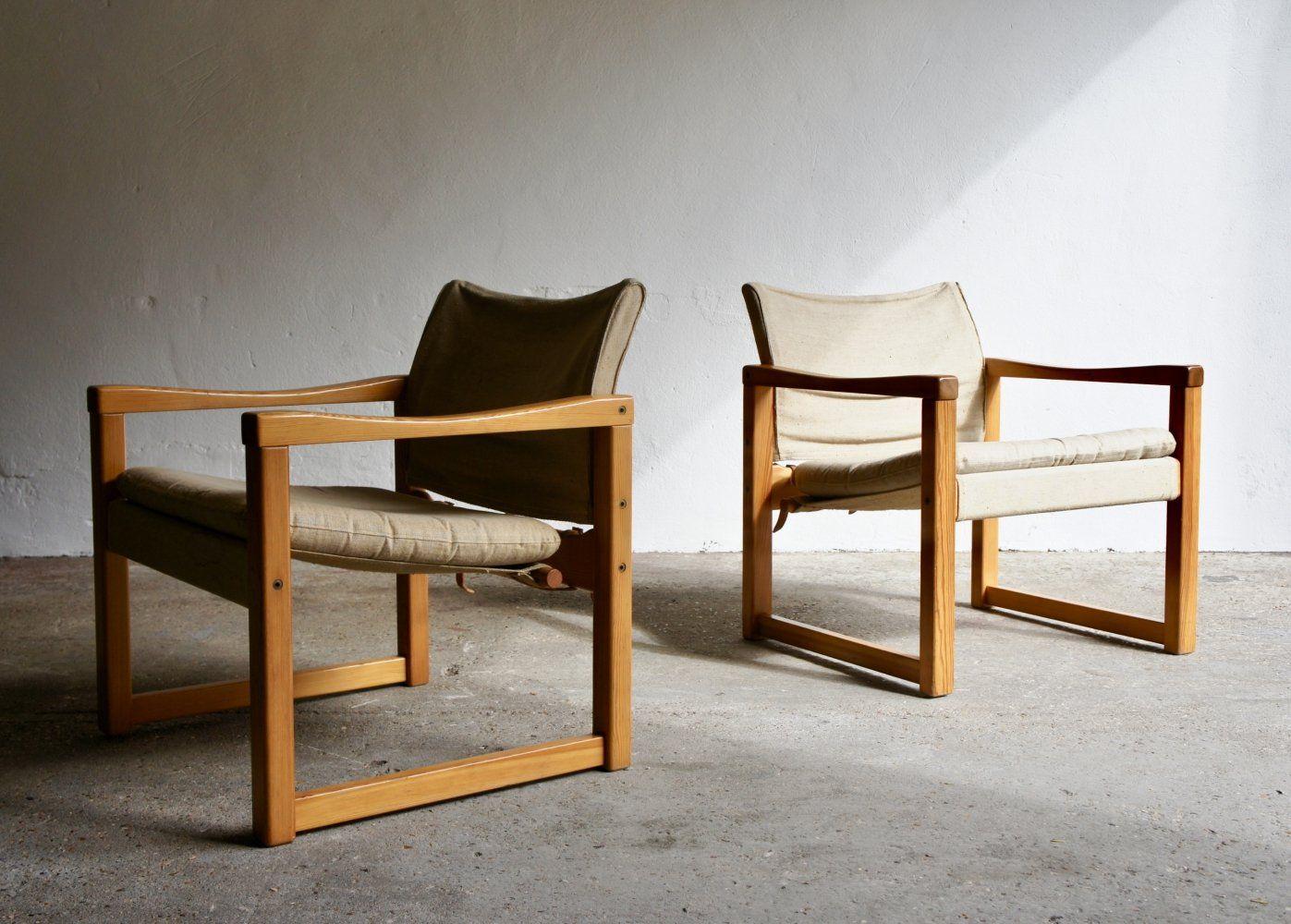 For Sale Pair Of Diana Safari Chairs By Karin Mobring Safari Chair Chair Home Decor