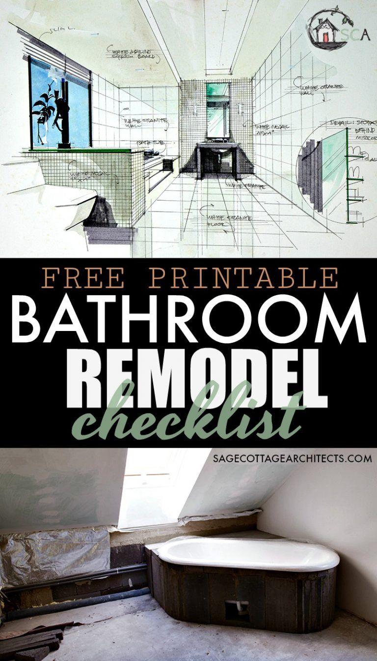 Bathroom Remodel Checklist Free Printable Download Bathrooms