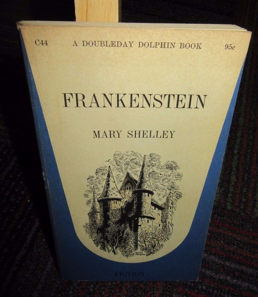 FRANKENSTEIN BY MARY SHELLEY SOFTCOVER BOOK, DOLPHIN DOUBLEDAY PAPERBACK, GUC