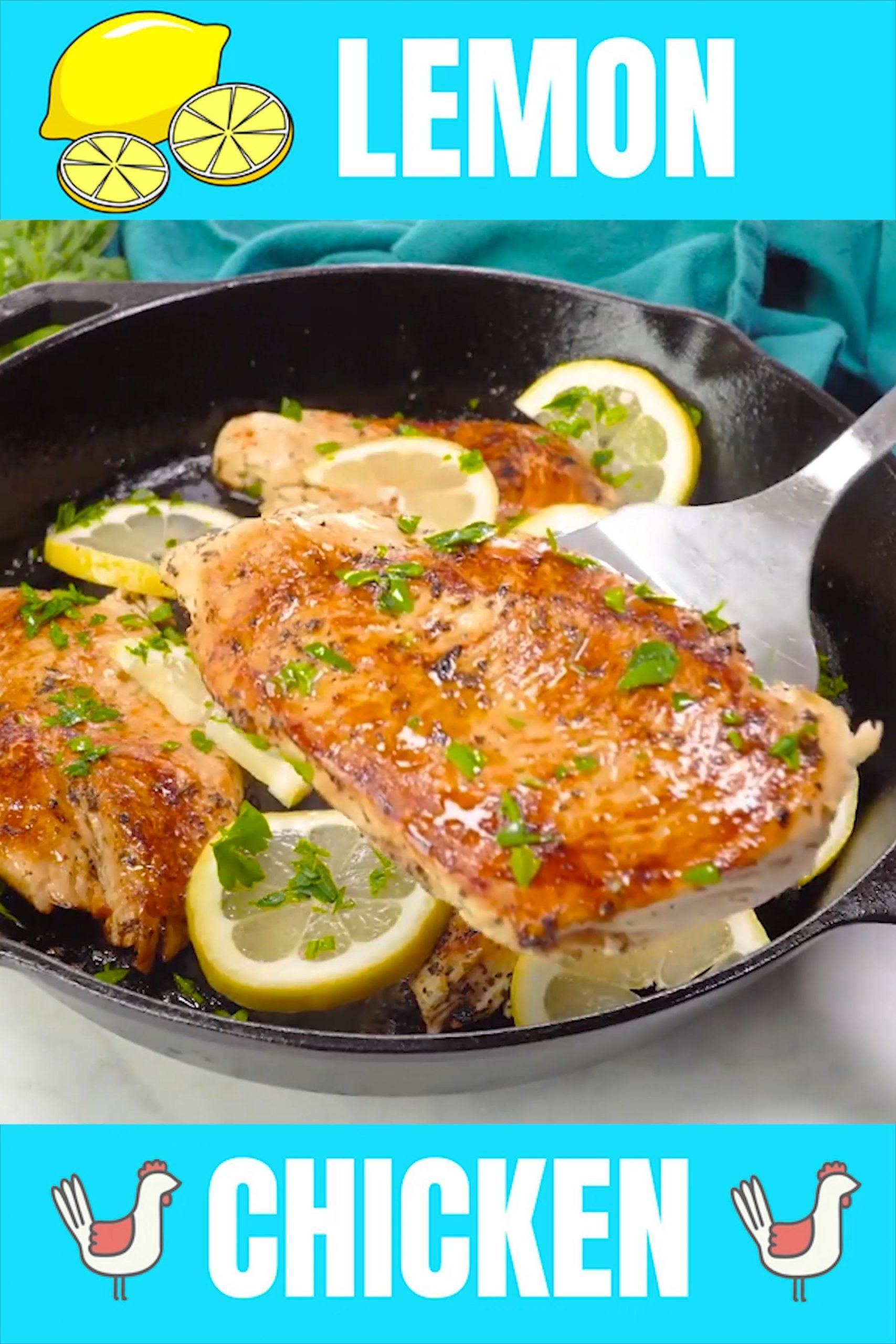 Quick and Easy Lemon Chicken  - The Stay At Home Chef -