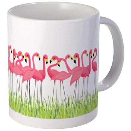 Cuban Pink Flamingos Mugs