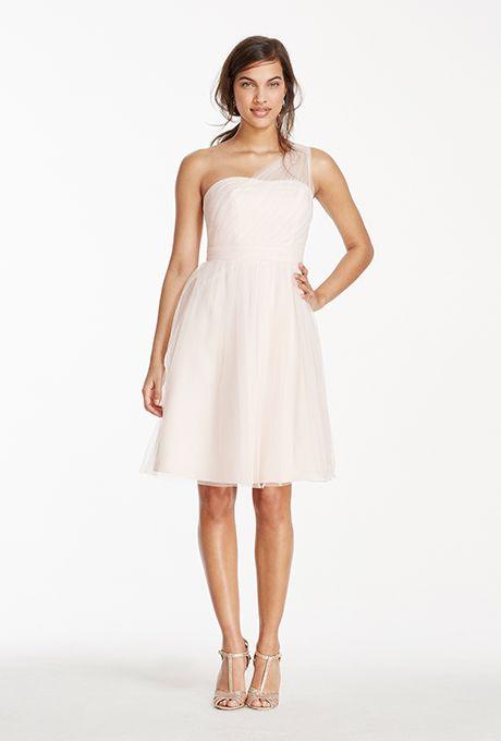 35 Blush Bridesmaid Dresses We Love | Short tulle dress, Illusion ...
