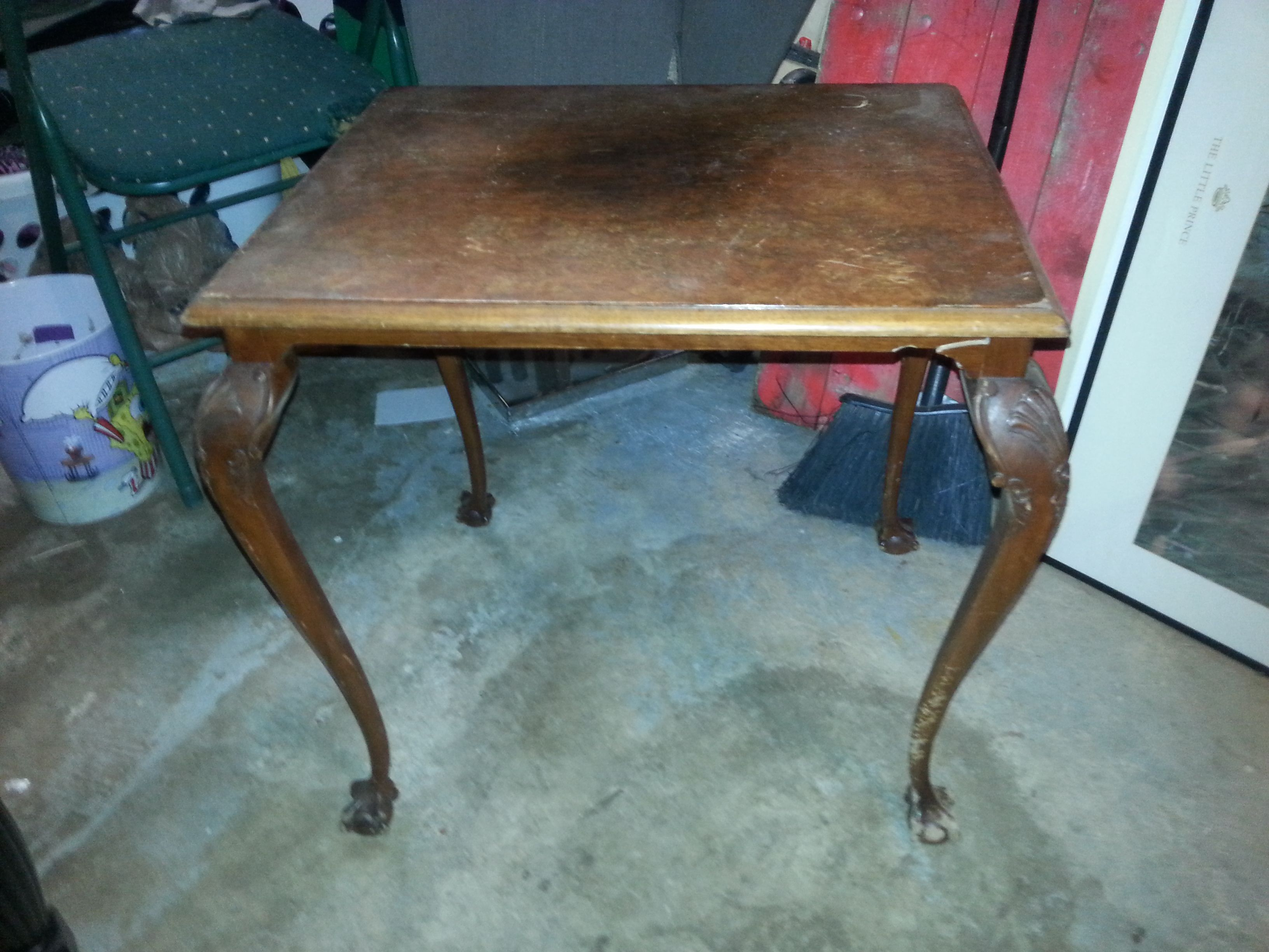 Antique Ball And Claw Feet Table Henredon End For Sale Sold