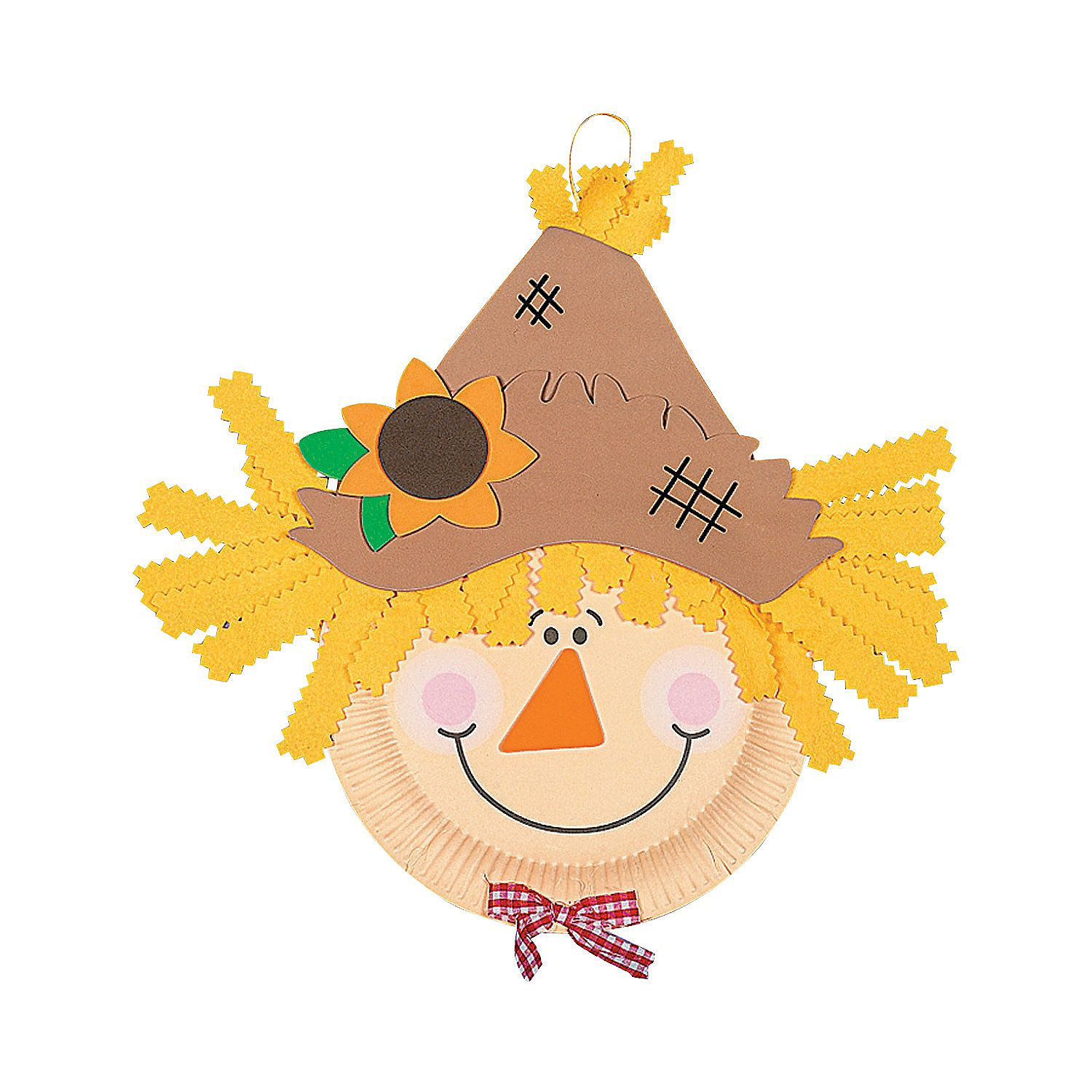 Paper Plate Scarecrow Craft Kit