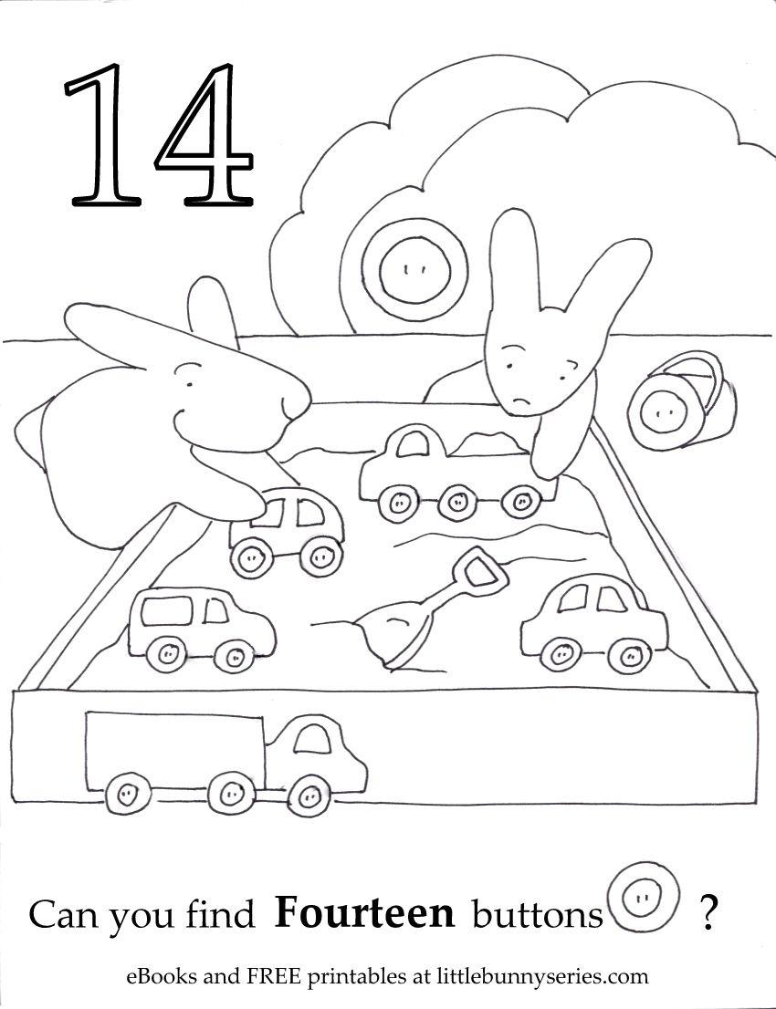 Number 14 Seek And Find Pdf Preschool Worksheets Preschool Activities Teaching Preschool