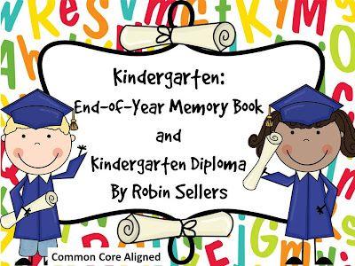 Kindergarten Graduation Diplomas, Invitations, and matching Kindergarten Memory Book