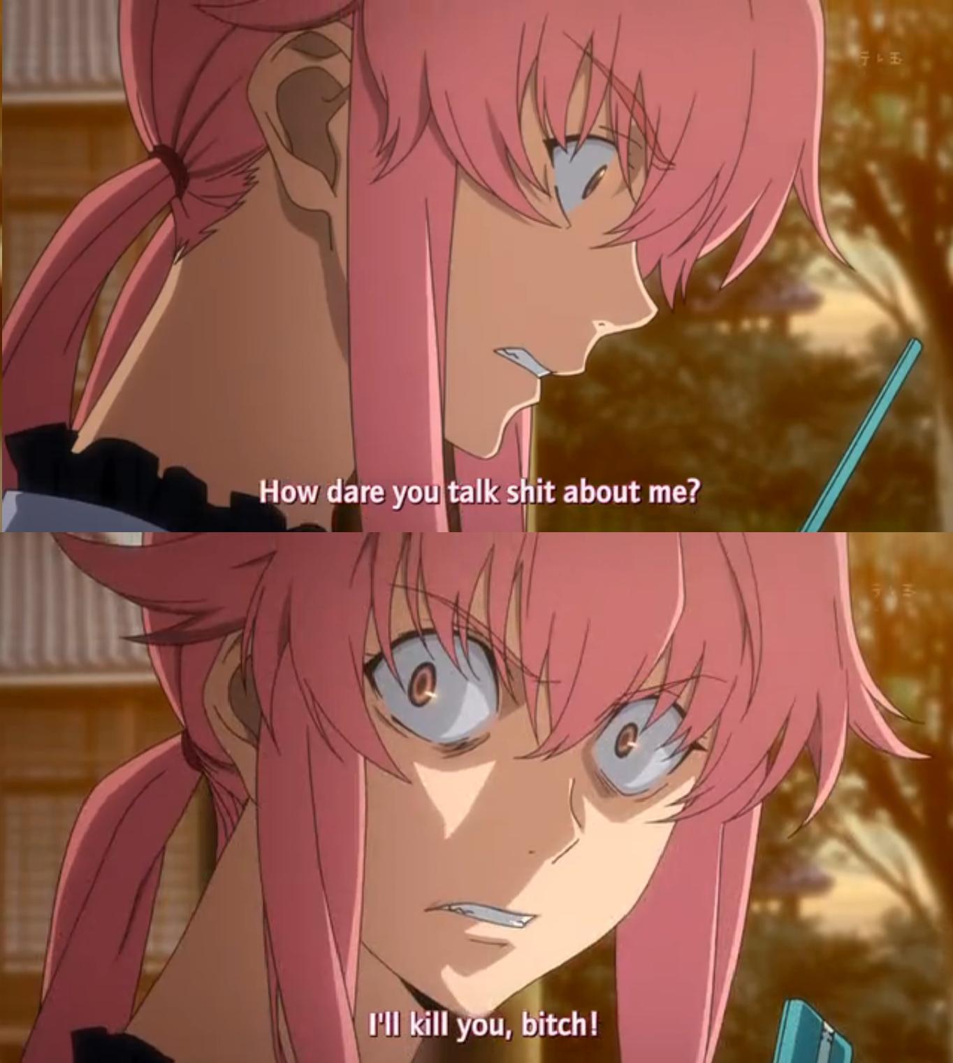 Meow R Meirl Yandere Anime Anime Mirai Nikki
