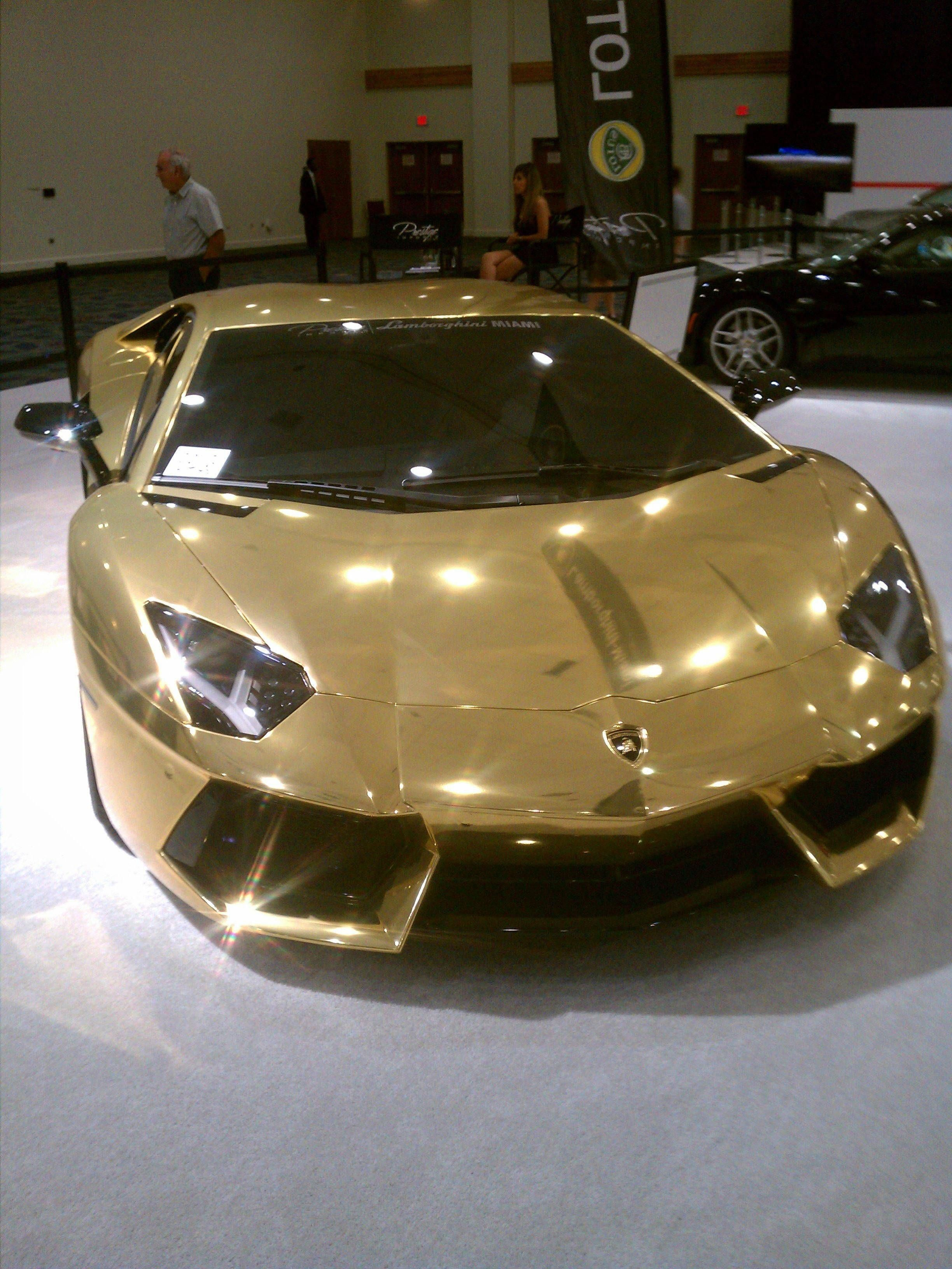 Golden Lamborghini And How Much Does That Cost I Want Lamborghiniaventador