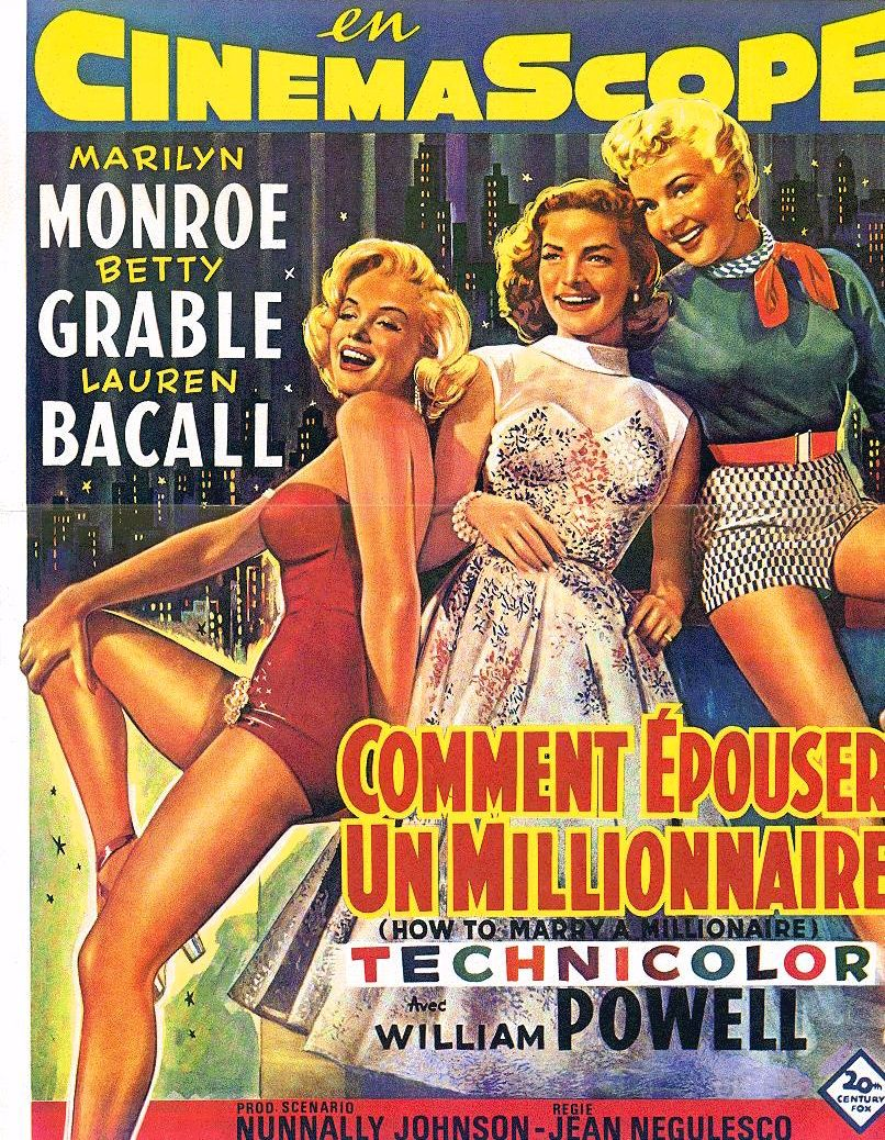 quot comment 201 pouser un millionaire quot poster for the marilyn bacall and betty