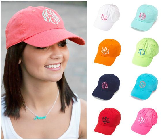 52364195c Womens BASEBALL CAP Easter Hat PERSONALIZED Monogrammed Mint Coral Navy Blue  Aqua White Black Hot Pink Red Lime Green Orange