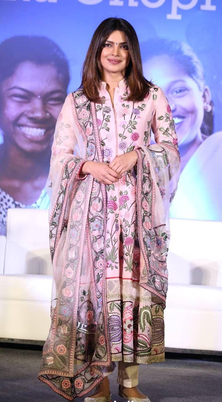 Priyanka Chopra Giving Us Ethnic Outfit Goals in Designer Salwar Suits