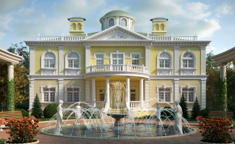 проекты домов в дворцовом стиле фото мясо
