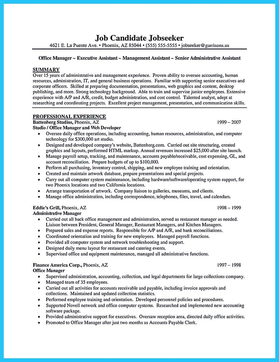 nice sample to make administrative assistant resume