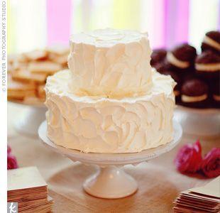 Simple Cute No Frills Wedding Cake